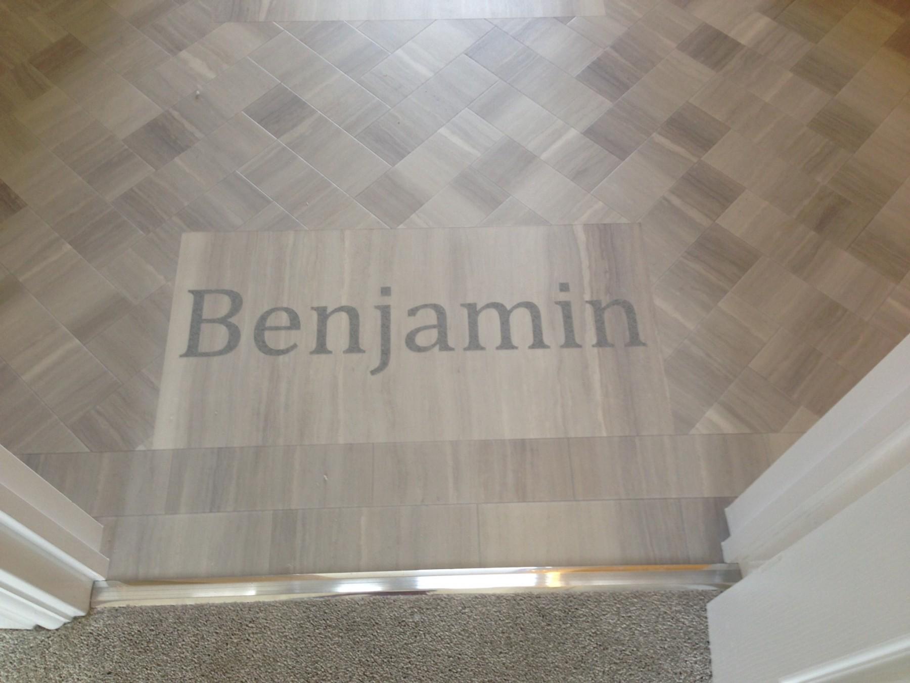 Wooden flooring with Benjamin overlayed